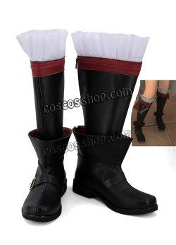 画像1: ファイナルファンタジーXIV FF14 黒魔道士風 BLACK MAGE 03 コスプレ靴 ブーツ