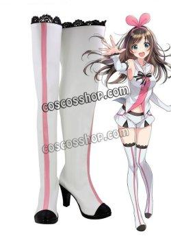 画像1: Kizuna Ai スーパーAI キズナアイ アイちゃん風 02 コスプレ靴 ブーツ