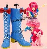 マイリトルポニー: エクエストリア・ガールズ Pinkie Pie風 コスプレ靴 ブーツ