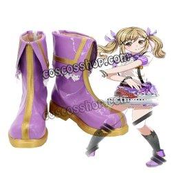 画像1: バンドリ! 市ヶ谷 有咲風 コスプレ靴 ブーツ
