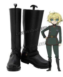 画像1: 幼女戦記 ターニャ・デグレチャフコスプレ靴 ブーツ