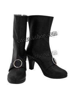 画像1: ファイナルファンタジーXIV FF14 黒魔道士風 BLACK MAGE 04 コスプレ靴 ブーツ